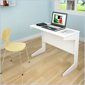 Sonax Slim Workspace Desk in Frost White