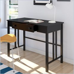 Sonax Corliving Plateau Workspace Desk with Drawer in Midnight Black