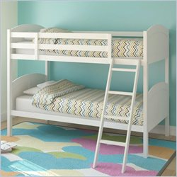Sonax CorLiving Concordia Solid Wood Twin Bunk Bed in White
