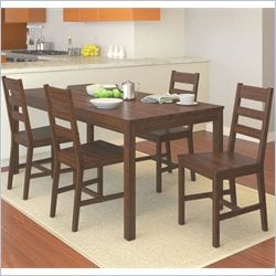 Sonax CorLiving 5 Piece Dining Set in Dapper Brown