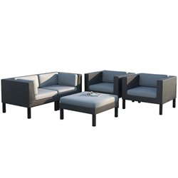 CorLiving Oakland 5 pc Sofa and Chair Patio Set