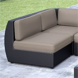CorLiving Seattle Patio Middle Seat in Textured Black Weave
