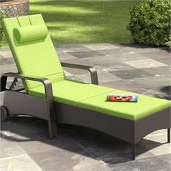 CorLiving Riverside Patio Reclining Lounger in Apple Green