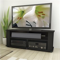 CorLiving Bakersfield Ravenwood Black TV Component Stand