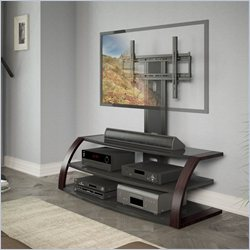 CorLiving Malibu TV Stand with Mount and Metal Uprights