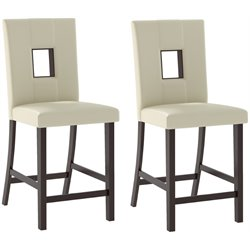 Sonax CorLiving Bistro Dining Chairs in White Leatherette (Set of 2)
