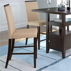 Sonax CorLiving Bistro Dining Chairs in Desert Sand Fabric (Set of 2)