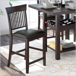 Sonax CorLiving Bistro Dining Chairs in Chocolate Black Bonded Leather (set of 2)