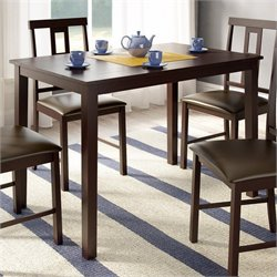 Sonax CorLiving Rectangular Dining Table in Dark Cocoa