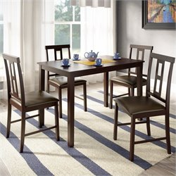 Sonax CorLiving 5 Piece Dining Set in Dark Cocoa