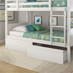 Sonax CorLiving Ashland Bed Storage Drawers in Snow White