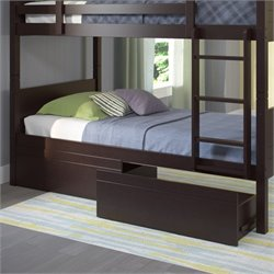 Sonax CorLiving Ashland Bed Storage Drawers in Dark Cappuccino