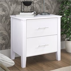 Sonax CorLiving Ashland Nightstand in Snow White