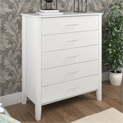 Sonax CorLiving Ashland Chest of Drawers in Snow White