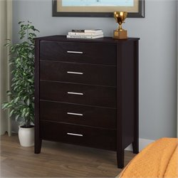 Sonax CorLiving Ashland Chest of Drawers in Dark Cappuccino