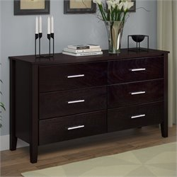 Sonax CorLiving Ashland Wide Dresser in Dark Cappuccino
