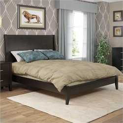 Sonax CorLiving Ashland Queen Bed in Dark Cappuccino