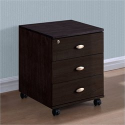 Sonax CorLiving Folio 3-Drawer Storage Cabinet in Rich Espresso