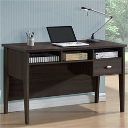 Sonax CorLiving Folio 1-Drawer Desk in Rich Espresso
