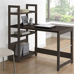 Sonax CorLiving Folio Bookshelf Styled Desk in Rich Espresso