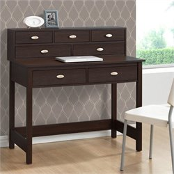 Sonax CorLiving Folio 7-Drawer Desk in Modern Wenge