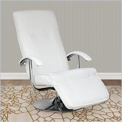 Sonax CorLiving Yalaha Leatherette Reclining Lounge Chair in Fresh White