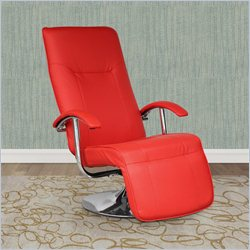 Sonax CorLiving Yalaha Leatherette Reclining Lounge Chair in Warm Red