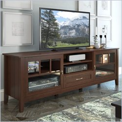 Sonax CorLiving Carlisle 2-Door Extra Wide TV Bench in Espresso