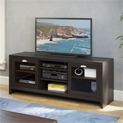Sonax CorLiving Kansas 2-Door TV Bench in Espresso