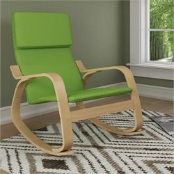 Sonax CorLiving Aquios Bentwood Contemporary Rocker in Apple Green