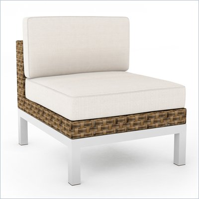 Sonax Beach Grove Armless Chair in Saddle Strap Weave