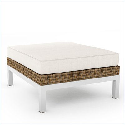 Sonax Beach Grove Ottoman in Saddle Strap Weave 