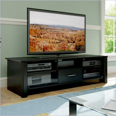 Sonax Bromley Versatile Storage TV Stand for 48-68 Inch TVs in Black