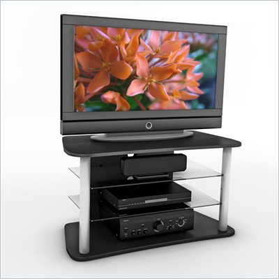 Sonax Cruise 40&quot; TV and Component Bench in Midnight Black