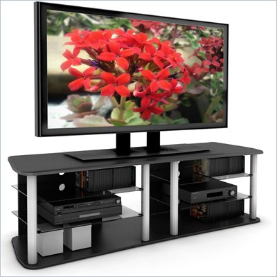 Sonax Cruise 71.5&quot; TV and Component Bench in Midnight Black