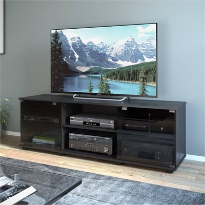 Sonax  Fiji 60&quot; TV Component Bench in Ravenwood Black