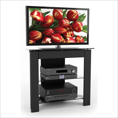 Sonax LX Series 34&quot; Midnight Black TV Component Stand