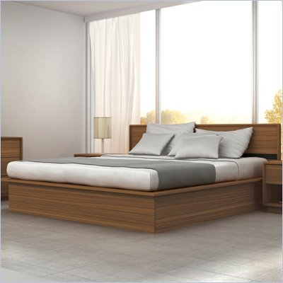 Sonax Manning Full Platform Bed in Eternity Walnut