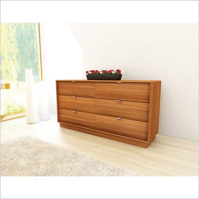 Sonax Manning Contemporary Wide Dresser in Eternity Walnut