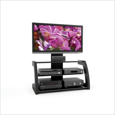 Sonax Milan 3-in-1 Design 52-inch HD TV Stand with Mount in Black