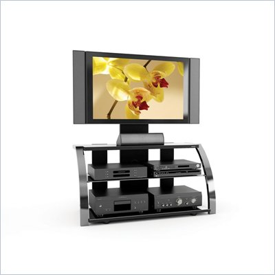 Sonax Milan 3-in-1 Design 52-inch HD TV Stand with Mount in Metal Chrome Finish