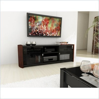 Sonax Milan Real Wood Uprights and Glass TV Stand