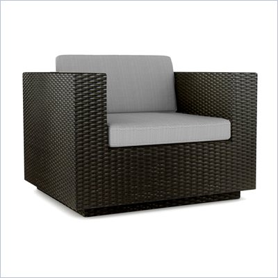 Sonax Textured Black Chair in Black Resin Rattan