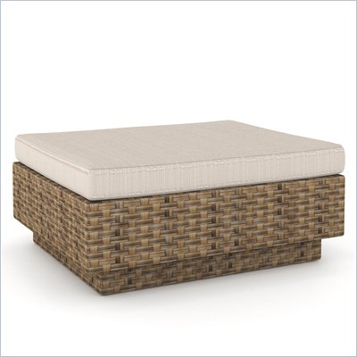 Sonax Park Terrace Ottoman in Saddle Strap Weave
