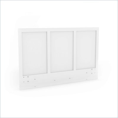 Sonax Plateau Queen / Full Platform Headboard in Frost White