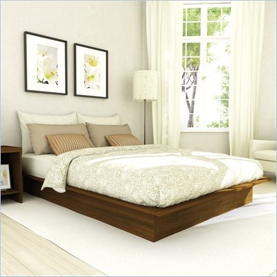 Sonax Contemporary Double Platform Bed in Urban Maple