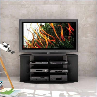 Sonax Rio TV Stand for 46-64 Inch Flat Panel HD TVs in Black Lacquer Finish