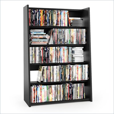 Sonax Fillmore Midnight Black Media Storage Shelf