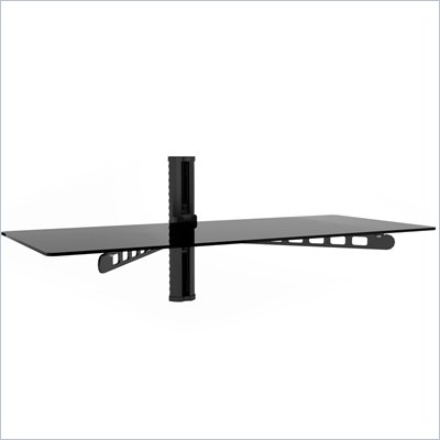 Sonax 35&quot; Wide Midnight Black Component Wall Shelf