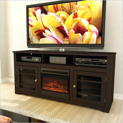 Sonax West Lake 60&quot; Fireplace Bench in Espresso